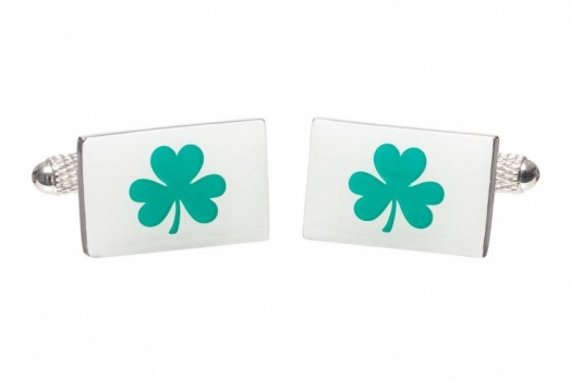Lucky Irish Shamrock Cufflinks